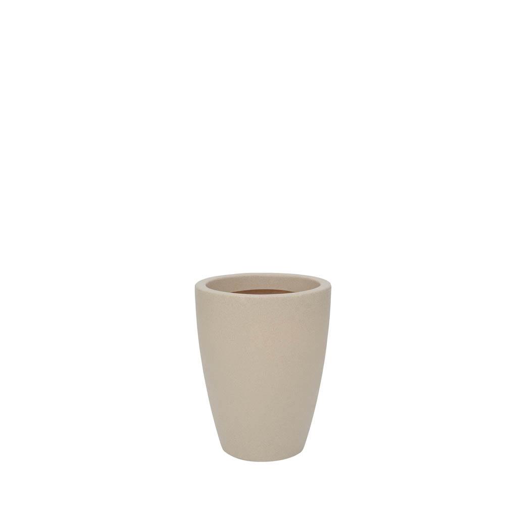 Vaso Malta Cone 30 x 40 cm Granito Areia Vasart