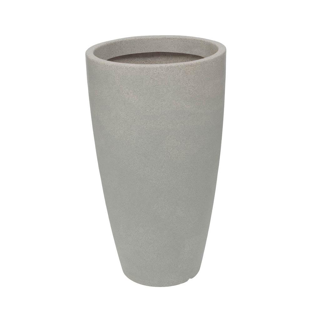 Vaso Malta Cone 43 x 76 cm Granito Pedra Vasart