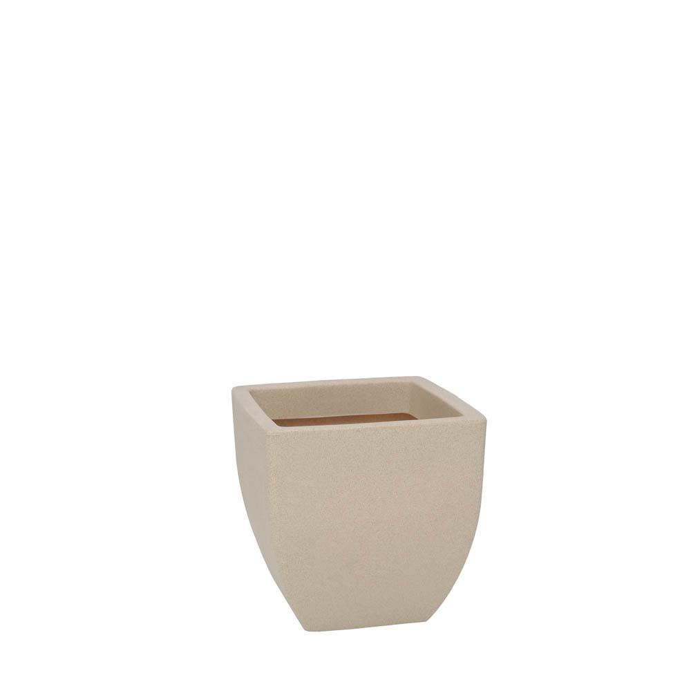 Vaso Malta Trapézio 30 x 30 cm Granito Areia Vasart