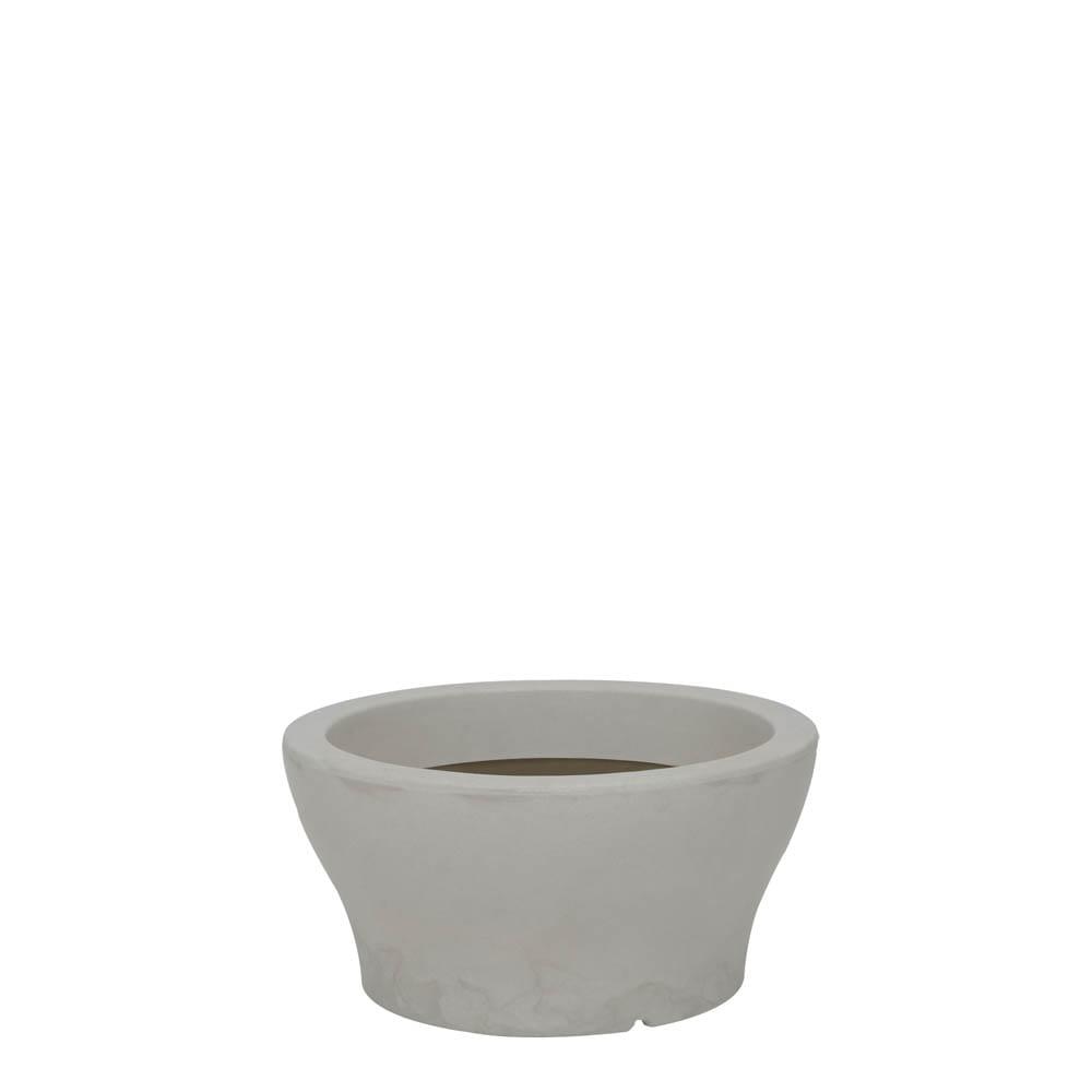 Vaso Milão 34 x 17 cm Branco Marmorizado Vasart