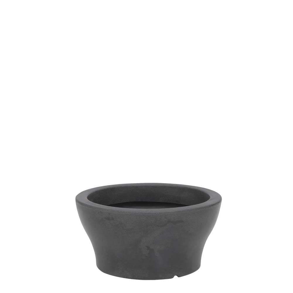 Vaso Milão 34 x 17 cm Preto Marmorizado Vasart