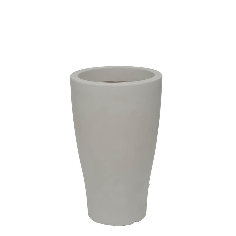 Vaso Milão 35 x 58 cm Branco Marmorizado Vasart