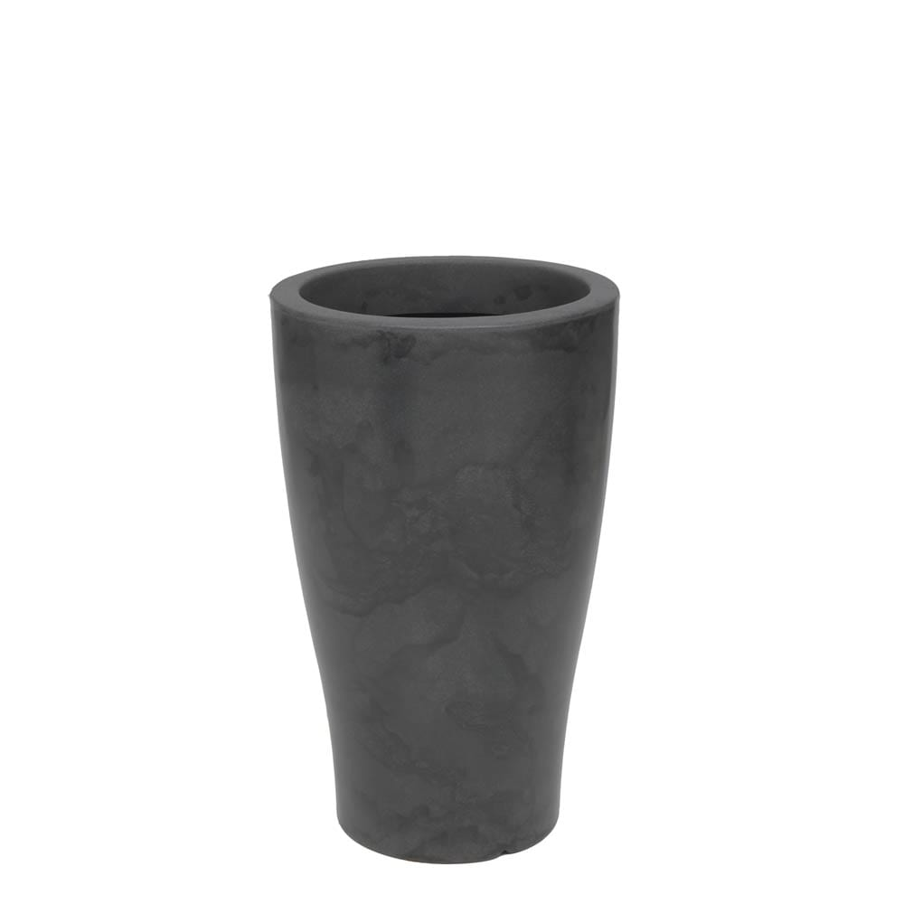 Vaso Milão 35 x 58 cm Preto Marmorizado Vasart