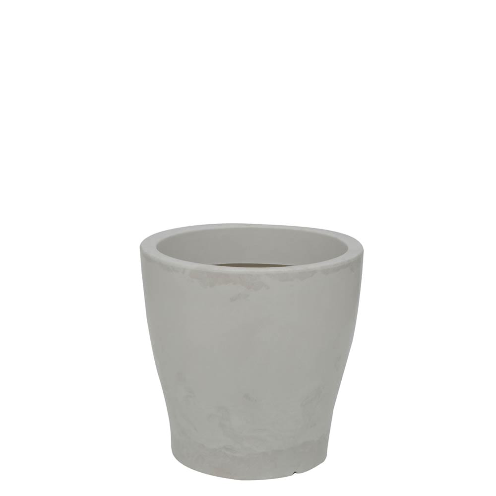Vaso Milão 37 x 37 cm Branco Marmorizado Vasart
