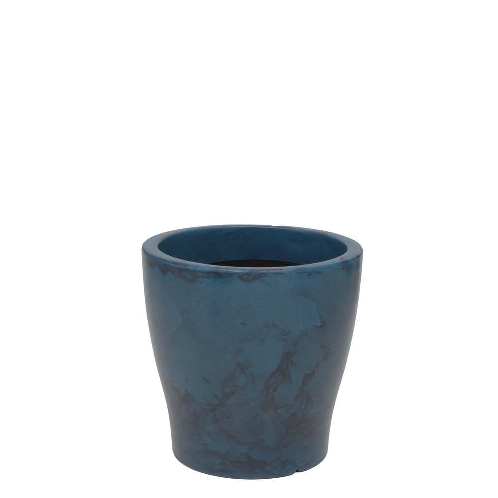 Vaso Milão 37 x 37 cm Vietnamita Azul Vasart