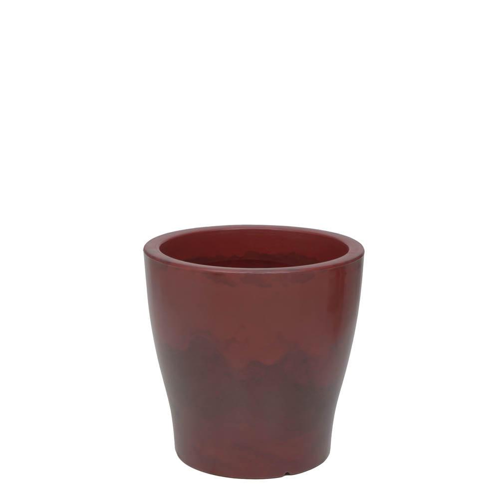 Vaso Milão 37 x 37 cm Vietnamita Vermelho Vasart