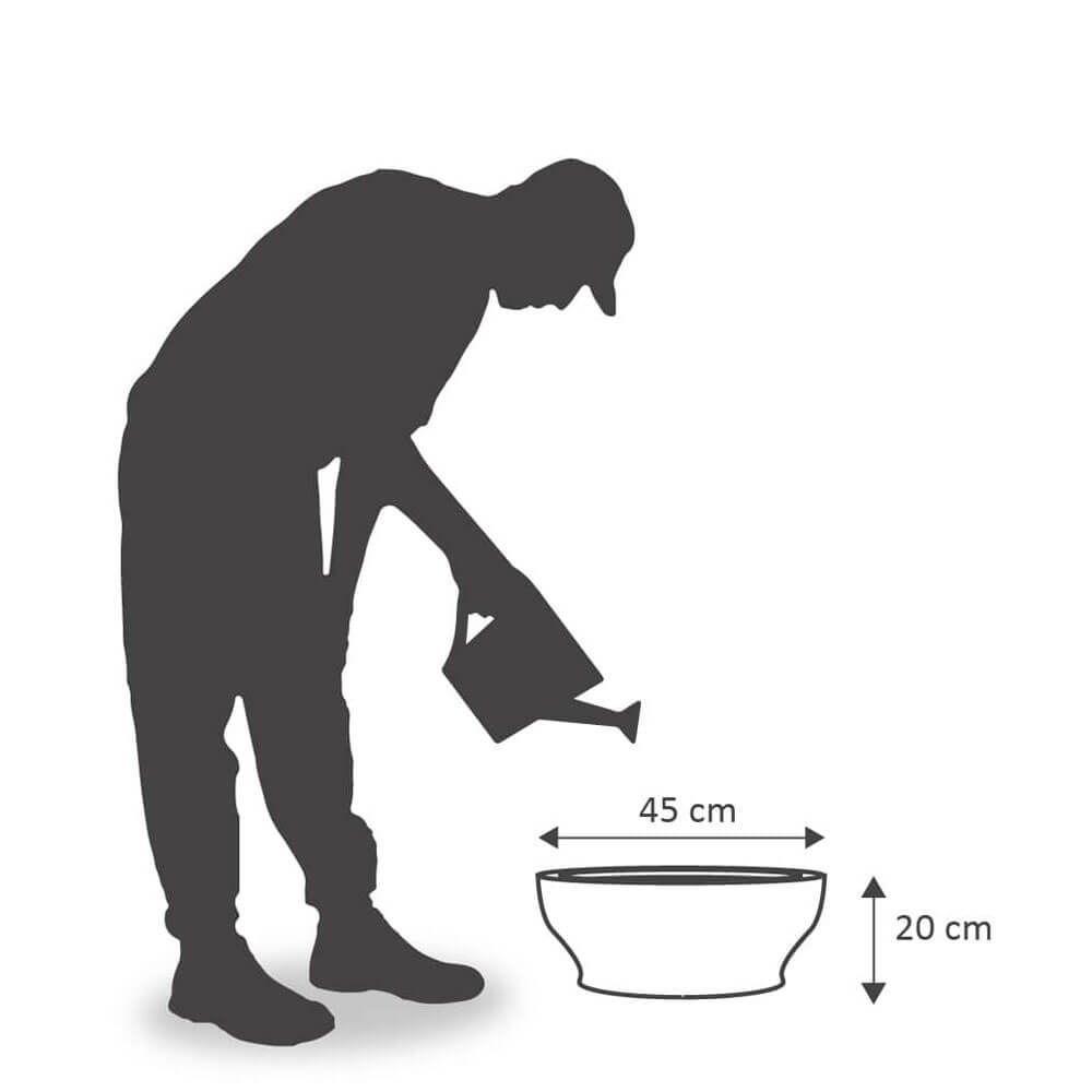 Vaso Milão 45 x 20 cm Branco Marmorizado Vasart