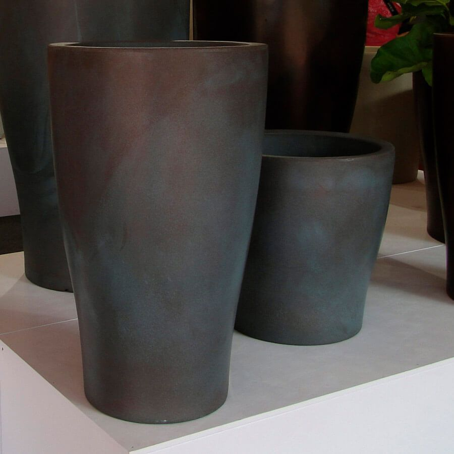 Vaso Milão 47 x 47 cm Preto Marmorizado Vasart