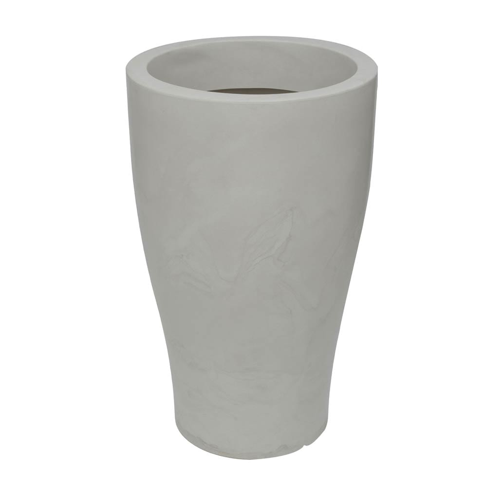 Vaso Milão 47 x 77 cm Branco Marmorizado Vasart