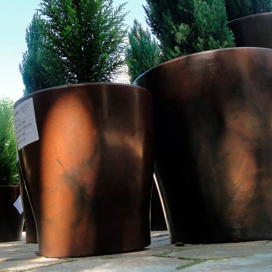 Vaso Milão 47 x 77 cm Concreto Marmorizado Vasart