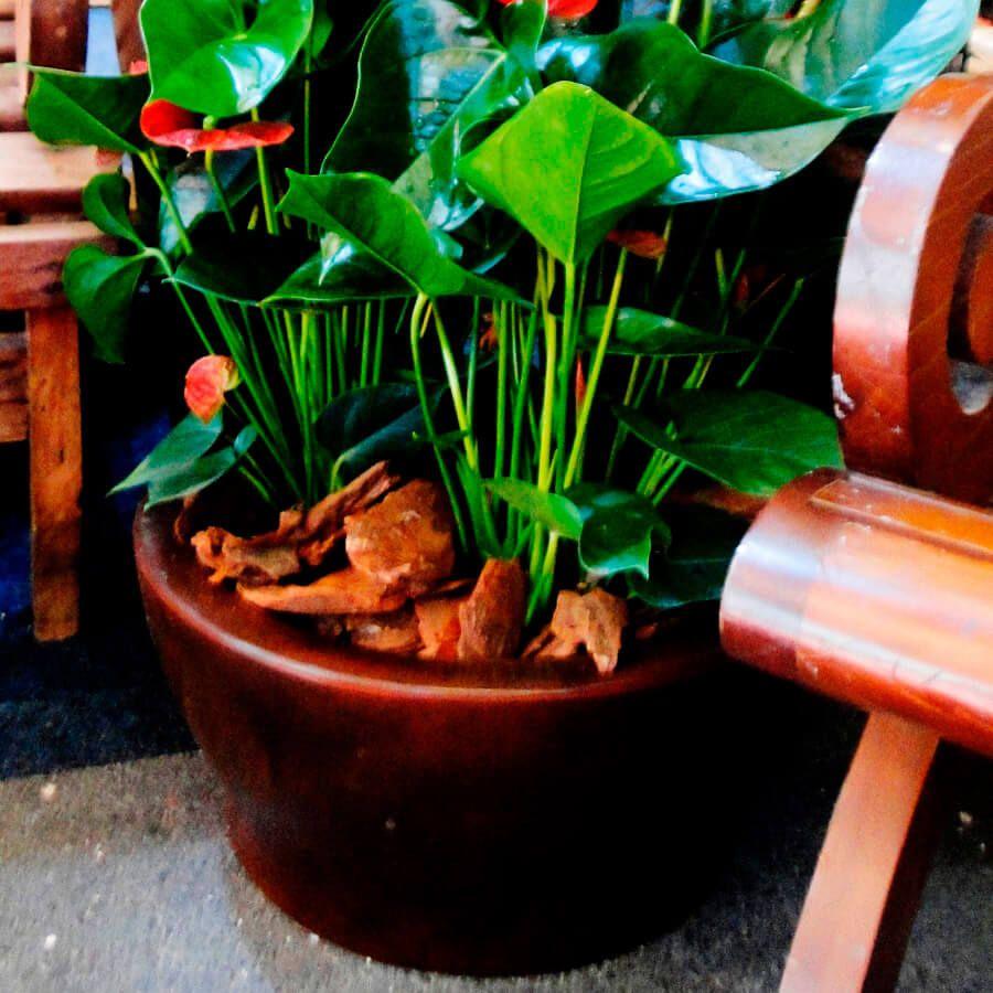 Vaso Milão 57 x 28 cm Corten Vasart