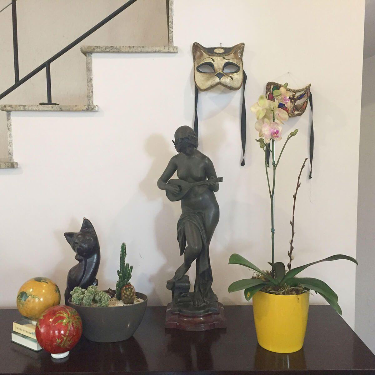 Vaso Orquidea 15 x 16 cm Verde Vintage Vasart