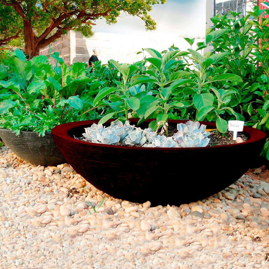 Vaso Terra Bowl 75 x 24 cm Preto Vasart