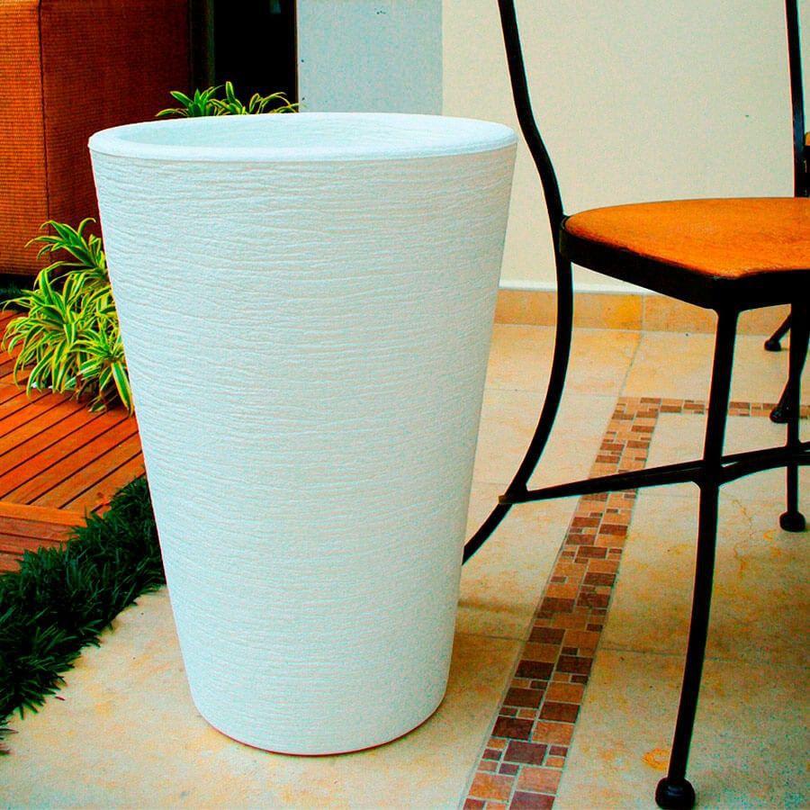 Vaso Terra Cone 30 x 40 cm Granito Pedra Vasart