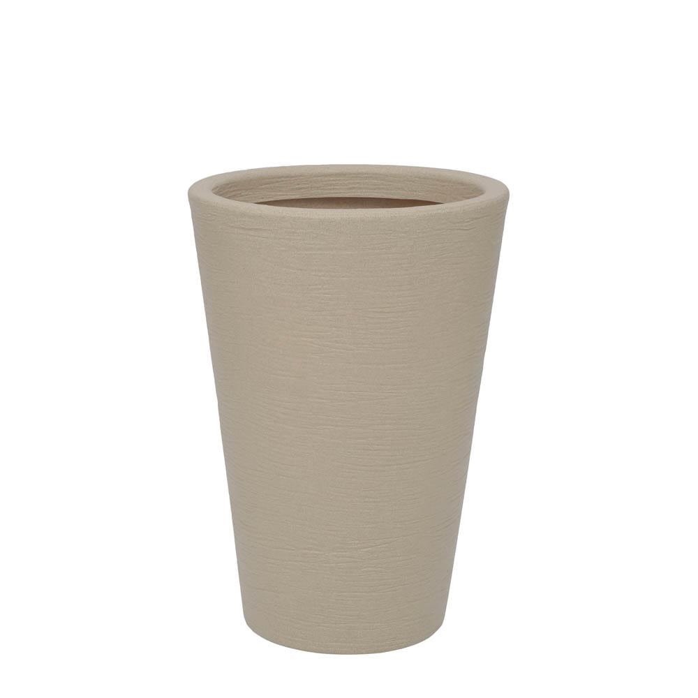 Vaso Terra Cone 38 x 55 cm Granito Areia Vasart