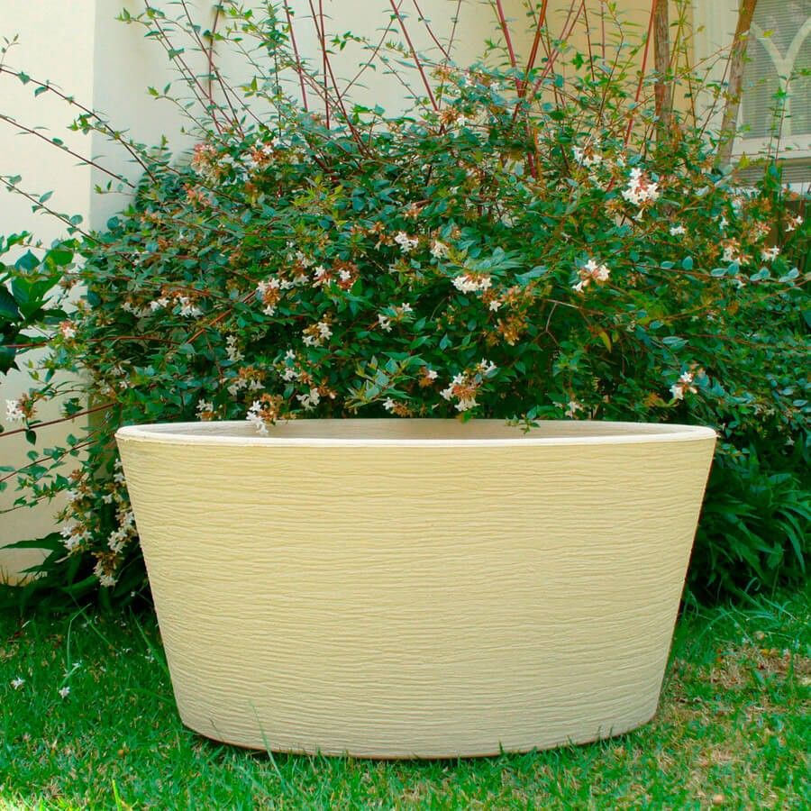 Vaso Terra Cone 55 x 46 cm Granito Areia Vasart