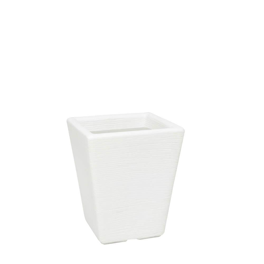 Vaso Terra Trapézio 30 x 35 cm Branco Vasart