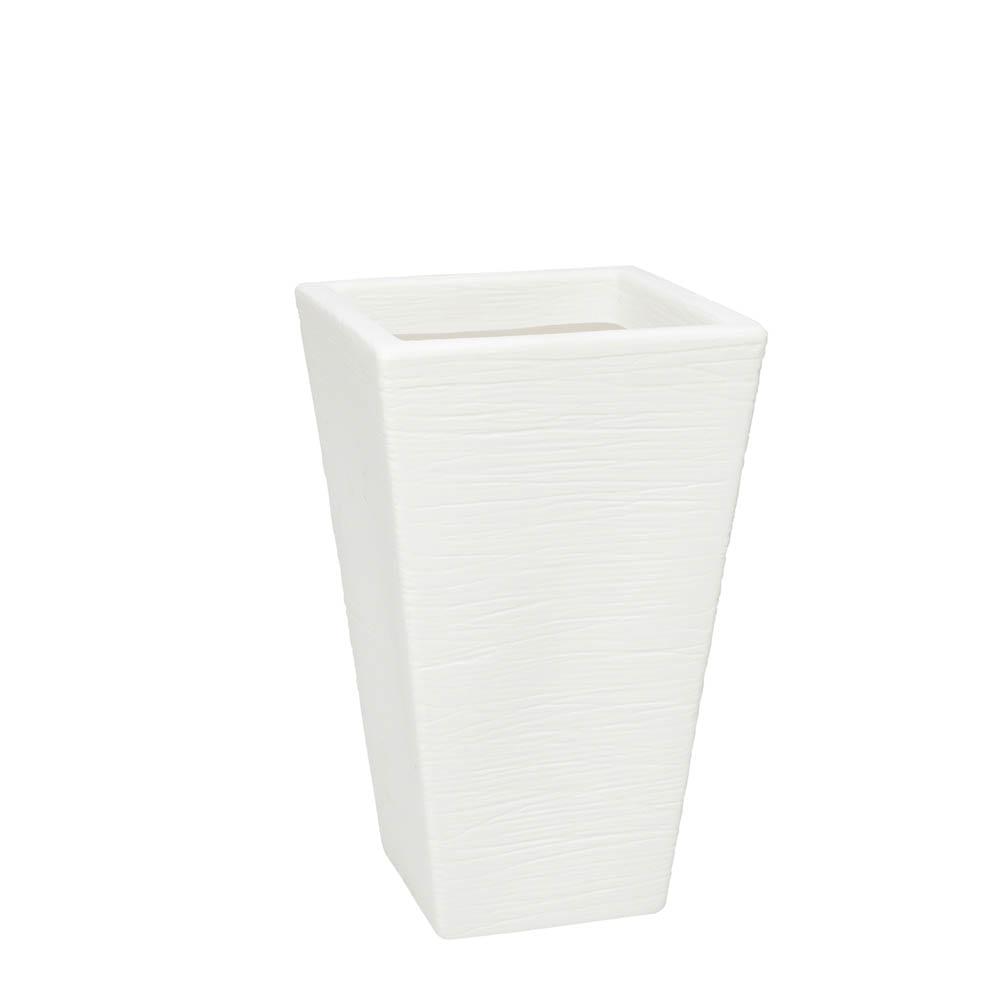 Vaso Terra Trapézio 34 x 55 cm Branco Vasart