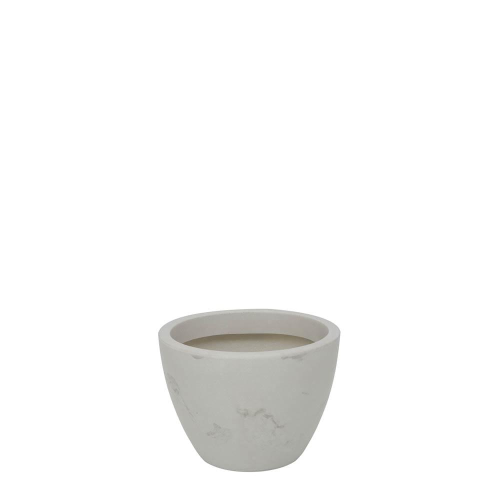 Vaso Verona 30 x 22 cm Branco Marmorizado Vasart