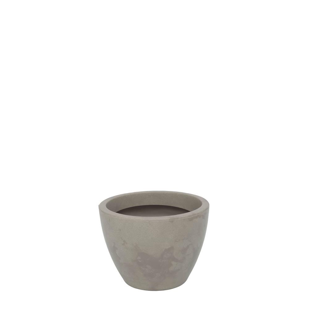 Vaso Verona 30 x 22 cm Concreto Marmorizado Vasart