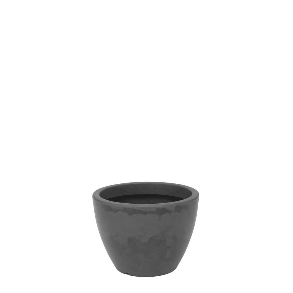 Vaso Verona 30 x 22 cm Preto Marmorizado Vasart