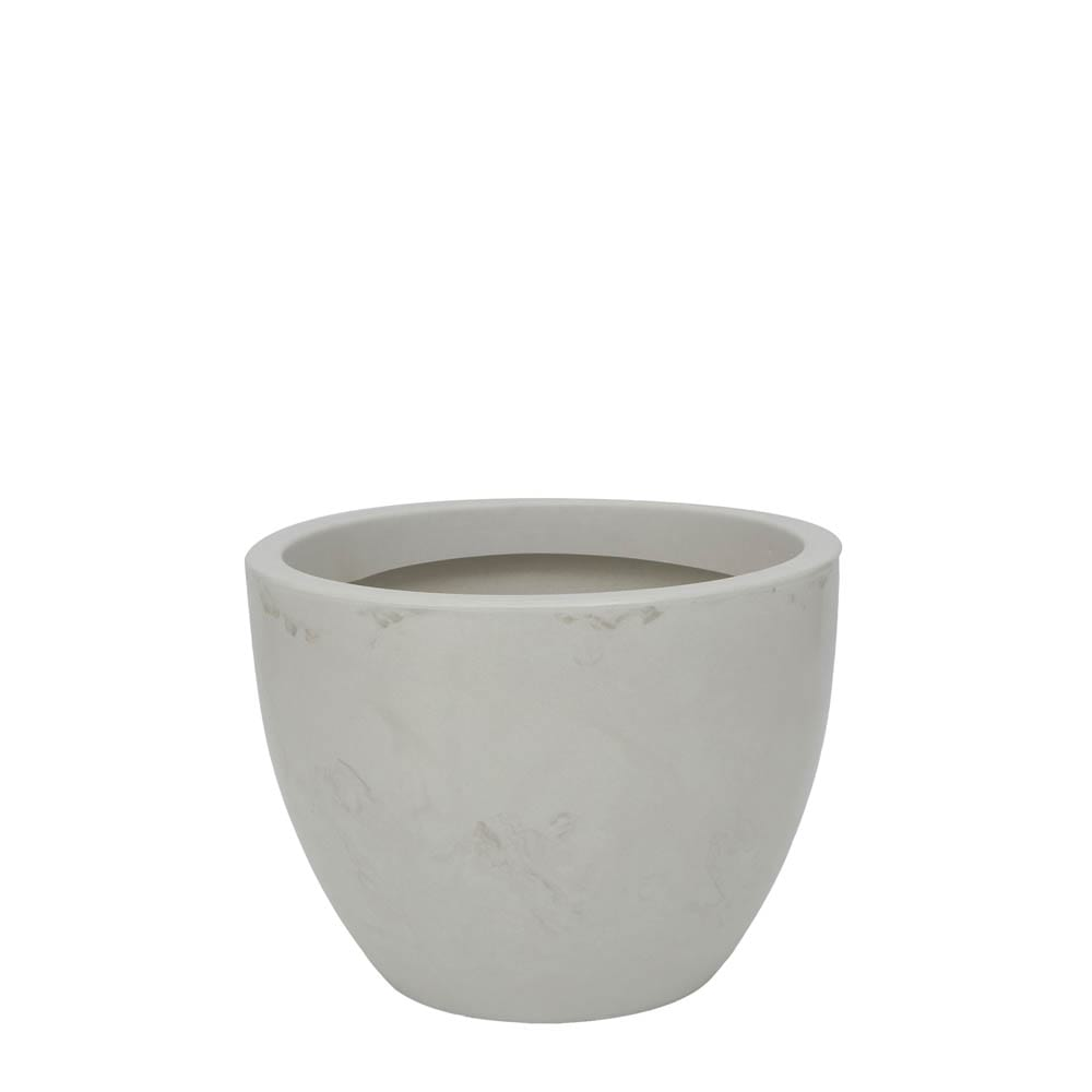 Vaso Verona 40 x 30 cm Branco Marmorizado Vasart