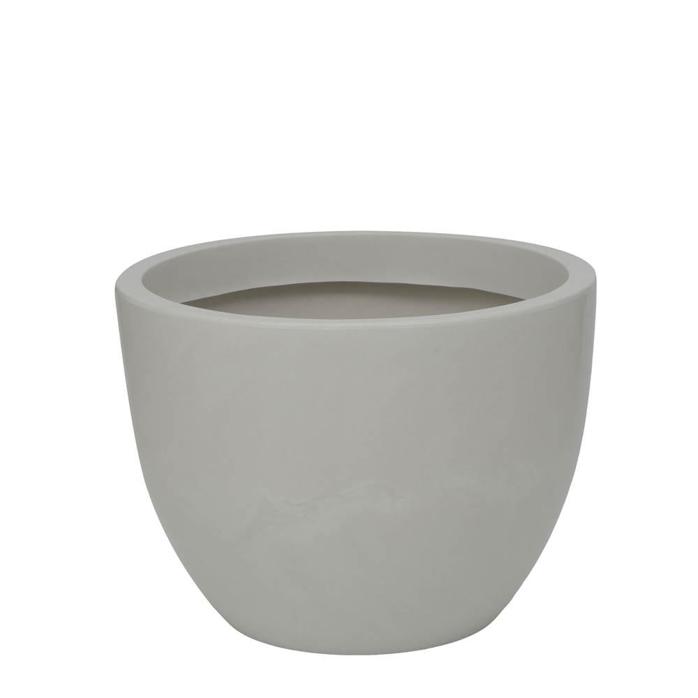 Vaso Verona 60 x 45 cm Branco Marmorizado Vasart