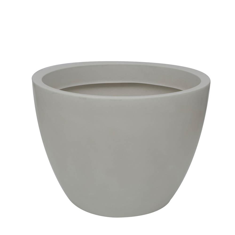 Vaso Verona 70 x 52 cm Branco Marmorizado Vasart