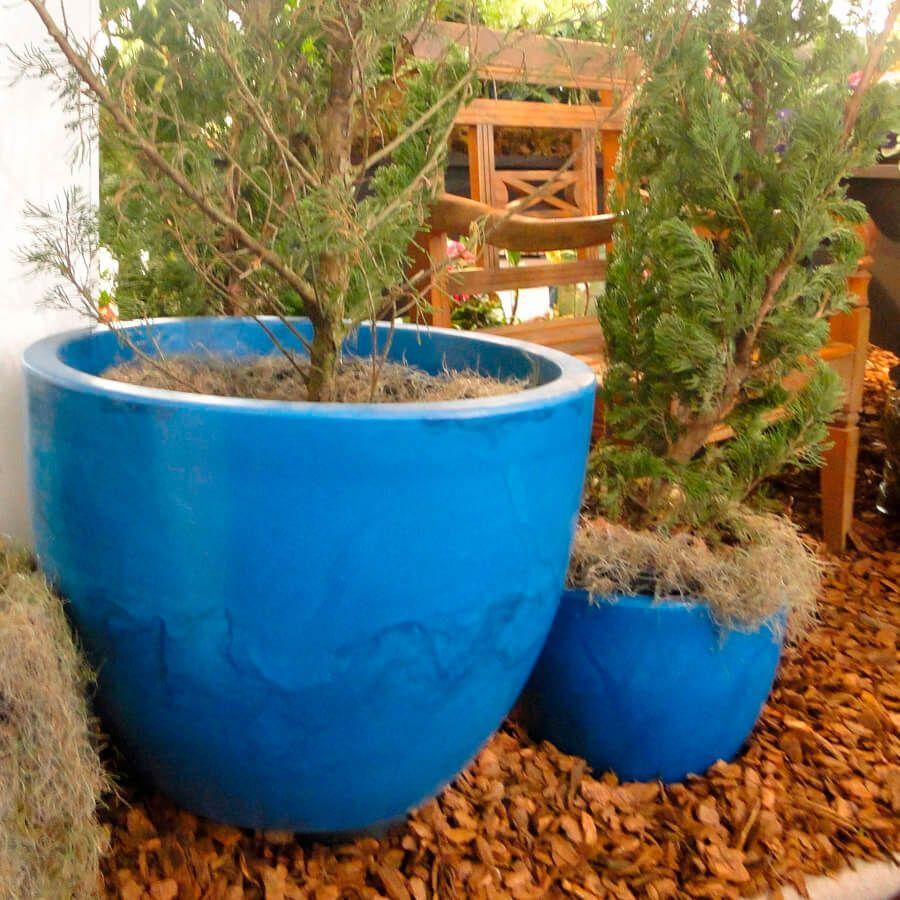 Vaso Verona 80 x 60 cm Vietnamita Azul Vasart