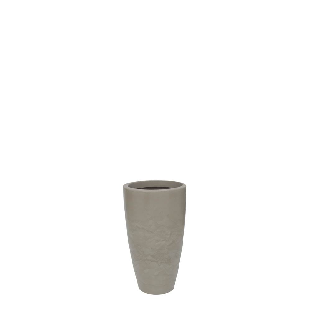 Vaso Verona Alto 30 x 53 cm Concreto Marmorizado Vasart