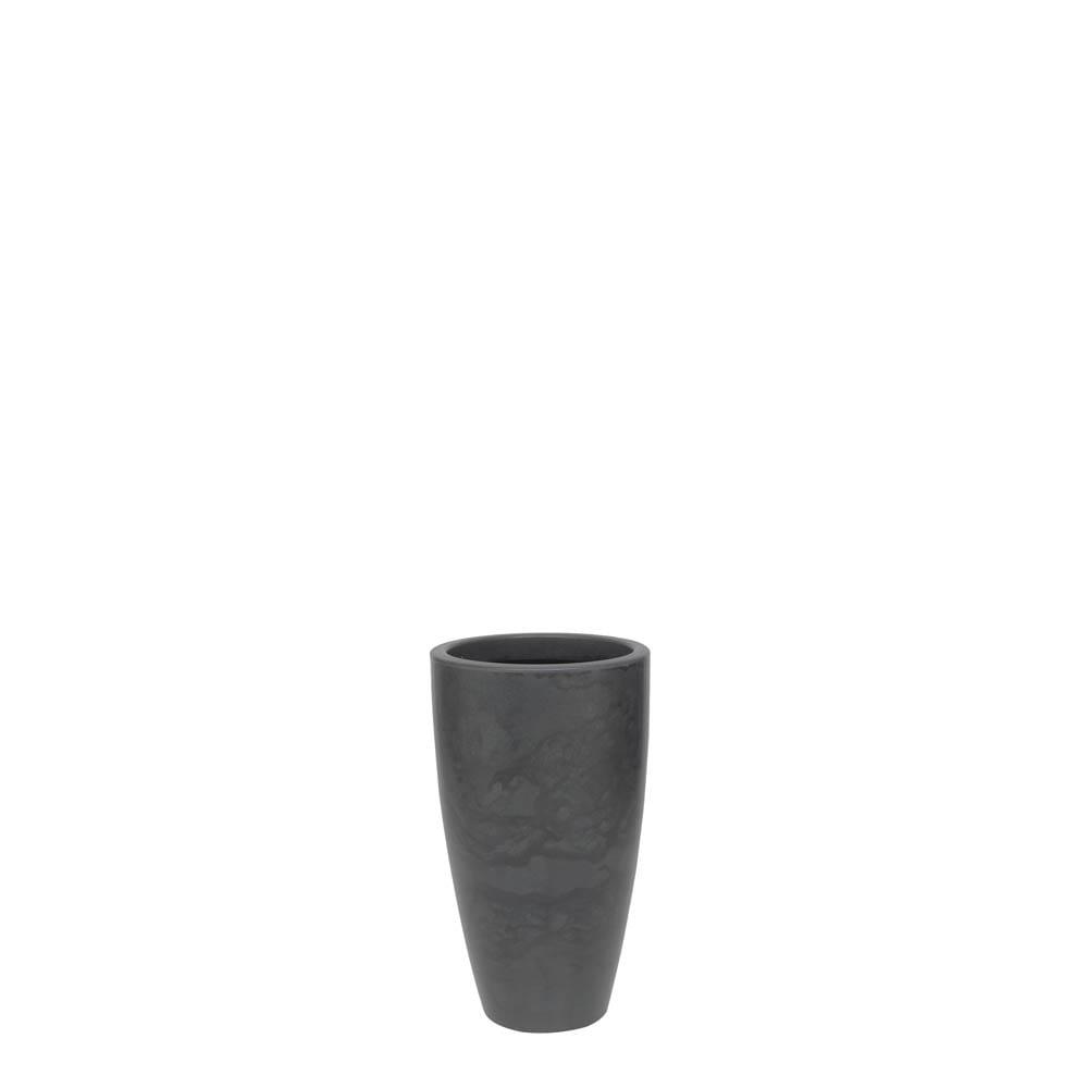 Vaso Verona Alto 30 x 53 cm Preto Marmorizado Vasart