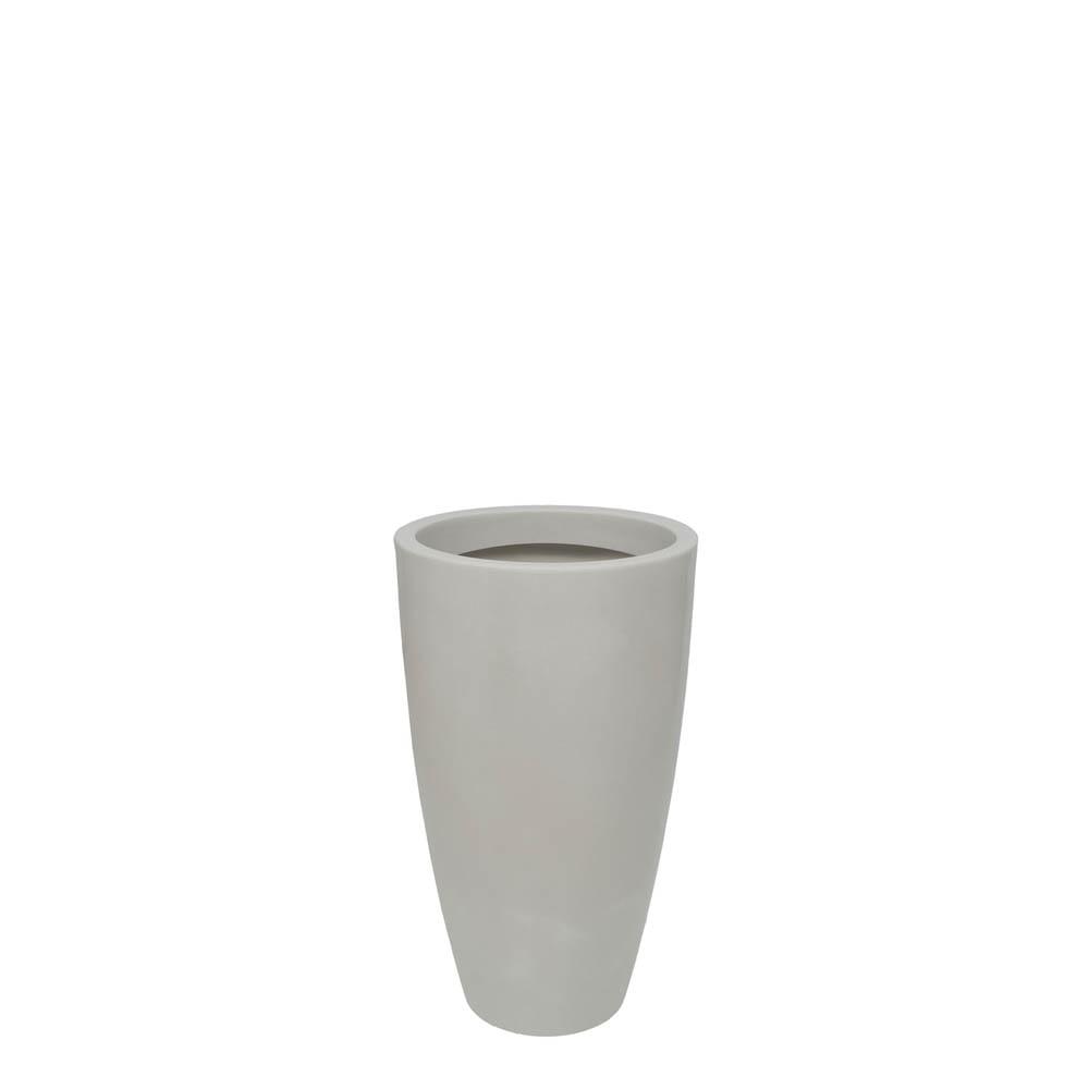Vaso Verona Alto 40 x 70 cm Branco Marmorizado Vasart