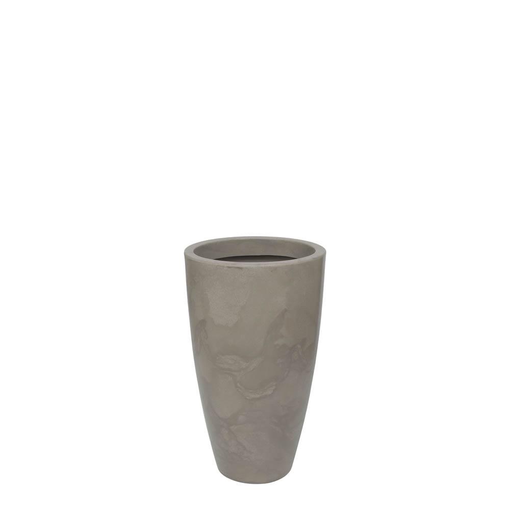 Vaso Verona Alto 40 x 70 cm Concreto Marmorizado Vasart