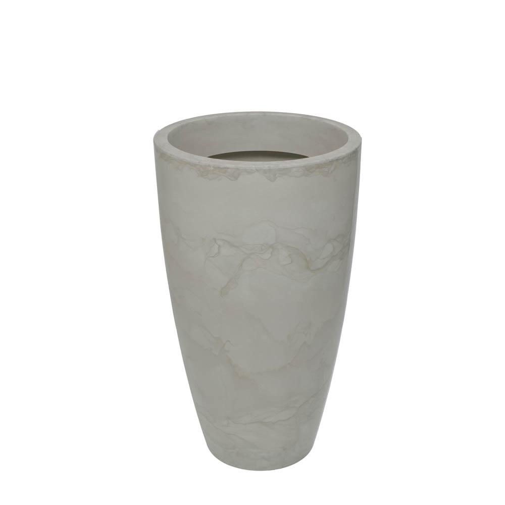 Vaso Verona Alto 52 x 90 cm Branco Marmorizado Vasart