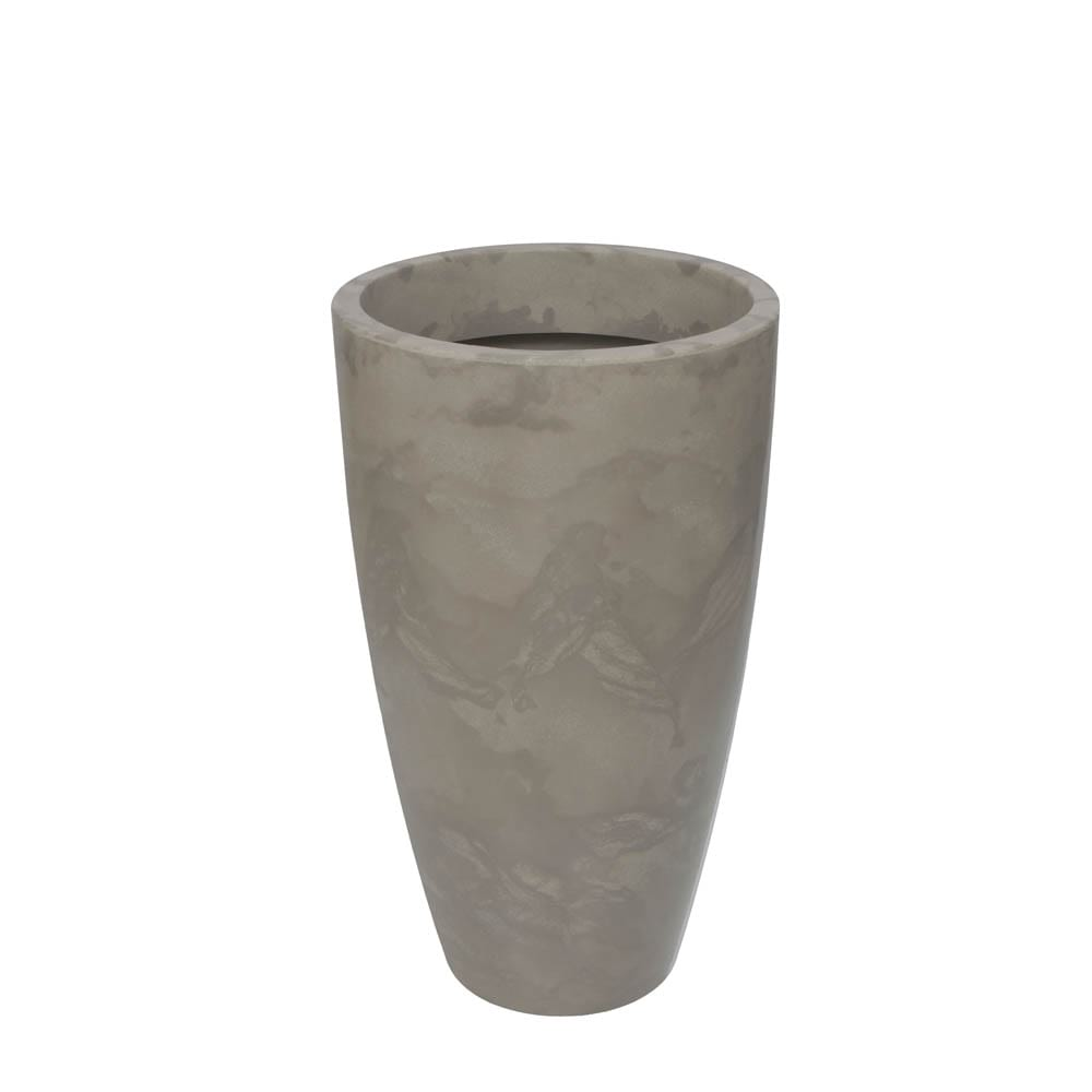 Vaso Verona Alto 52 x 90 cm Concreto Marmorizado Vasart
