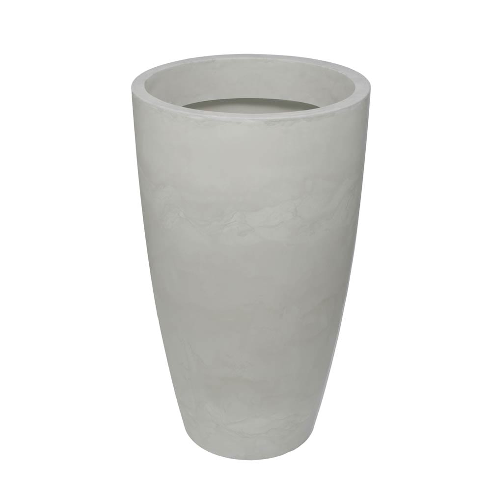 Vaso Verona Alto 64 x 110 cm Branco Marmorizado Vasart