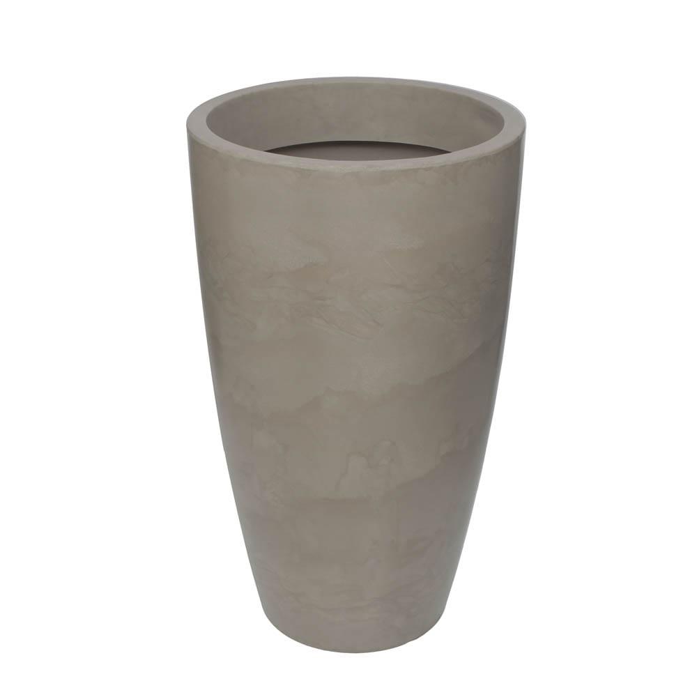 Vaso Verona Alto 64 x 110 cm Concreto Marmorizado Vasart