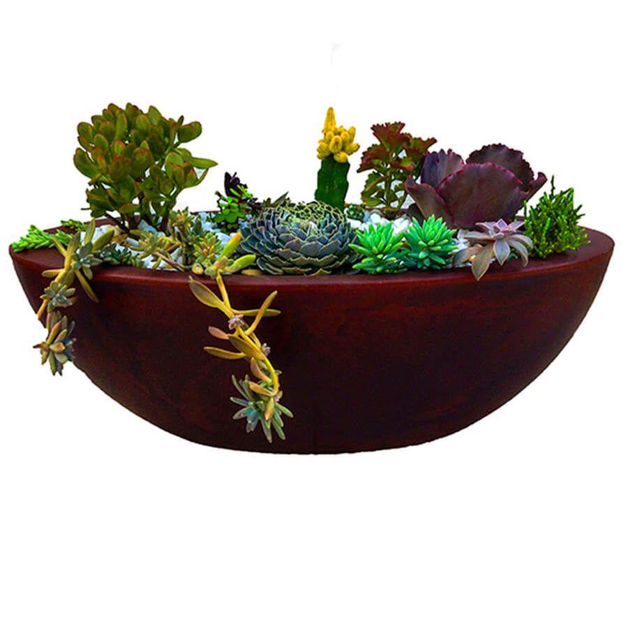 Vaso Verona Bowl 54 x 17 cm Preto Marmorizado Vasart