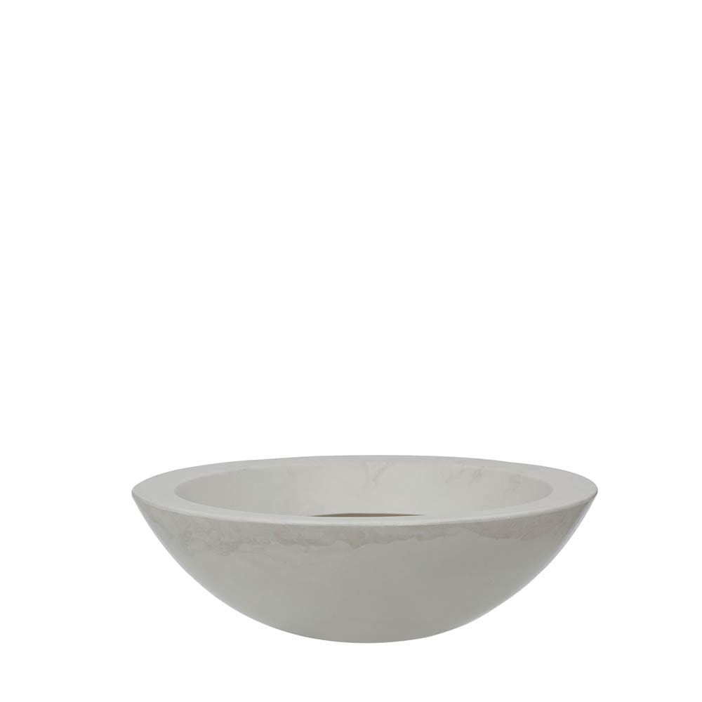 Vaso Verona Bowl 54 x 17 cm Branco Marmorizado Vasart