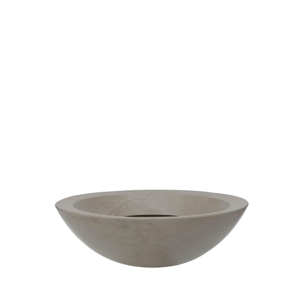 Vaso Verona Bowl 54 x 17 cm Concreto Marmorizado Vasart