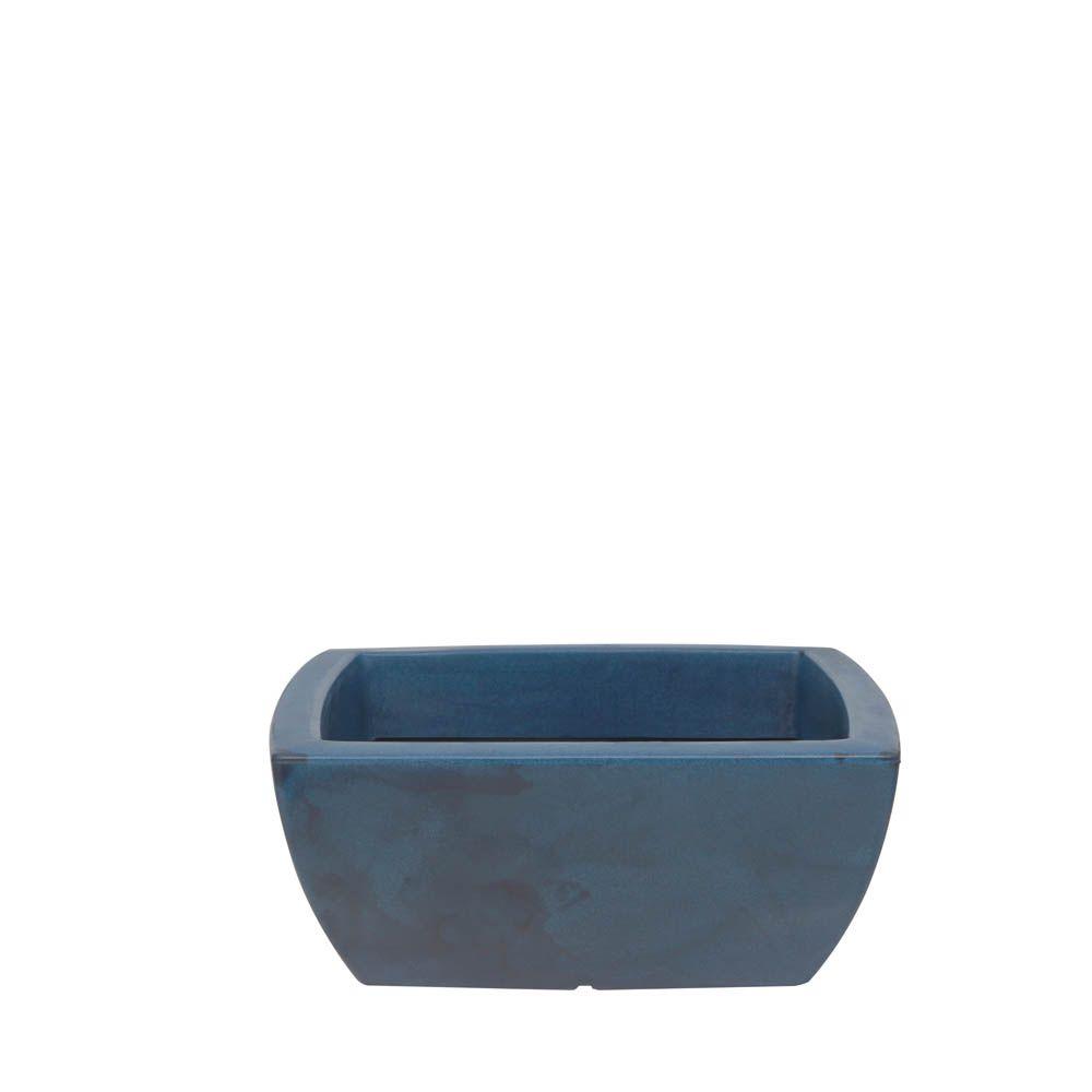 Vaso Verona Trapézio Quadrado Baixo 45 x 20 cm Vasart