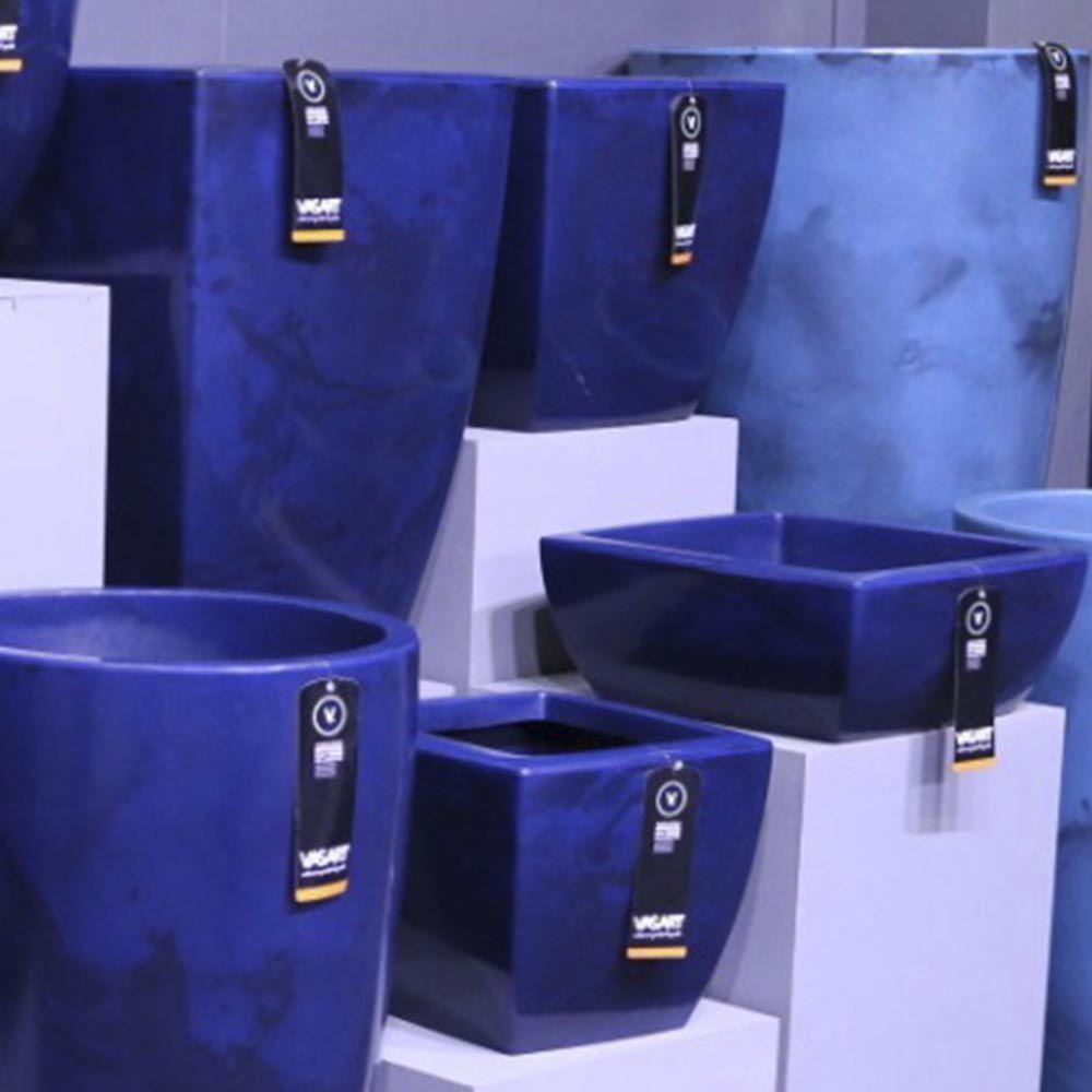 Vaso Verona Trapézio Baixo 45x20 cm Vasart