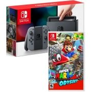 Console Nintendo Switch 32gb - Gray (Cinza) + Jogo Super Mario Odyssey