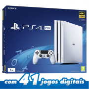 Console Playstation 4 PRO 1TB Glacier White - Branco