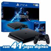 Console PlayStation 4 Slim 1TB + Jogo Star Wars Battlefront II