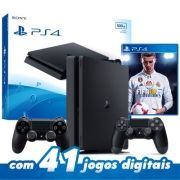 Console Playstation 4 - 500GB com 2 controles + Jogo fifa 18