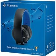 PS4 FONE COM MICROFONE SONY HEADSET GOLD 7.1 PRETO WIRELESS