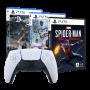 Kit Prime PlayStation 5 - Controle Controle DualSense + 3 Jogos (Marvel