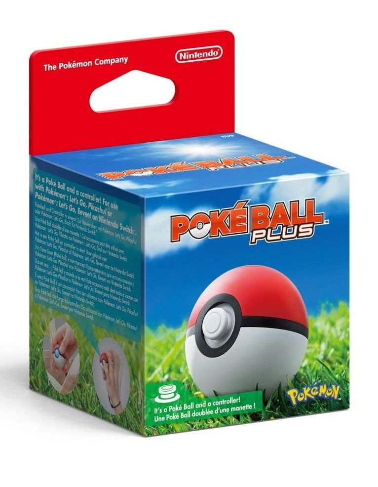ACESSÓRIO PARA NINTENDO SWITCH POKEBALL PLUS POKEMON LETS GO