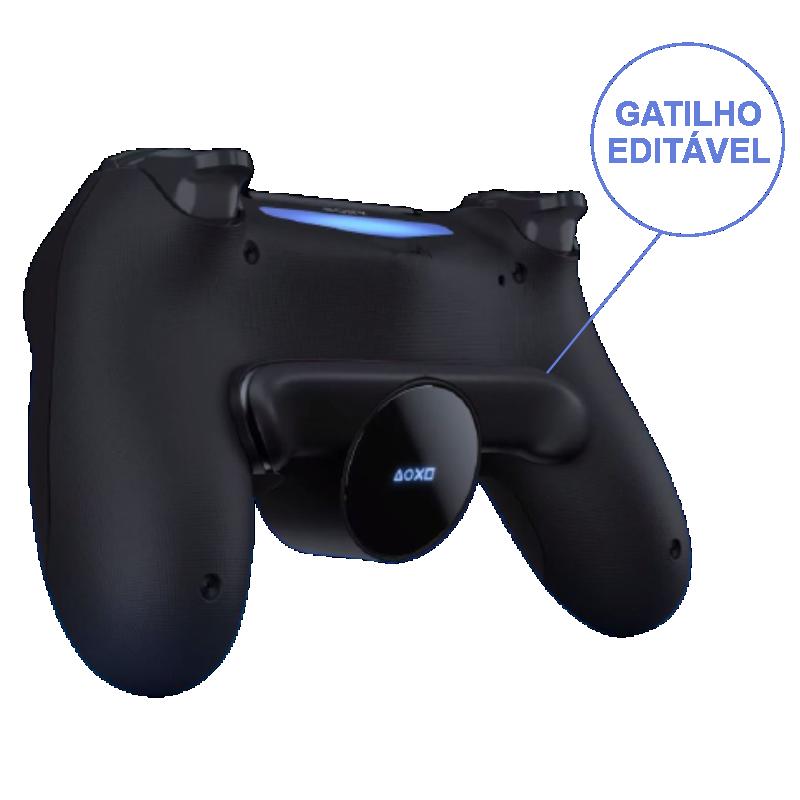 Botão traseiro para controle Dualshock 4 PS4 - preto Original botões adicionais configuraveis Back Button Attachment